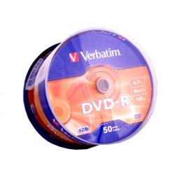 Диск Verbatim DVD-R 4.7 GB/120 min 16x Cake Box 50шт (43548)
