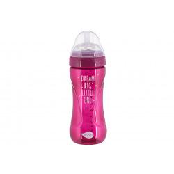 Детская Антиколиковая бутылочка Nuvita NV6052 Mimic Cool 330мл пурпурная (NV6052PURPLE)