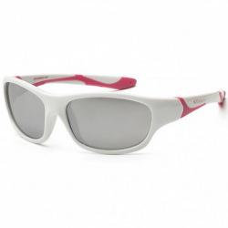Детские солнцезащитные очки Koolsun бело-розовые серии Sport (Розмір: 6+) (KS-SPWHCA006)