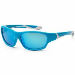 Детские солнцезащитные очки Koolsun бирюзово-белые серии Sport (Розмір: 6+) (KS-SPBLSH006)