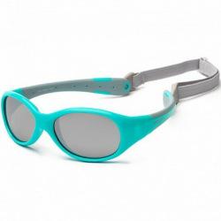 Детские солнцезащитные очки Koolsun  бирюзово-серые серии Flex (Розмір: 0+) (KS-FLAG000)