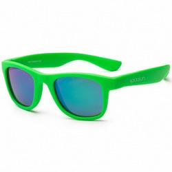Детские солнцезащитные очки Koolsun неоново-зеленые серии Wave (Розмір: 3+) (KS-WANG003)