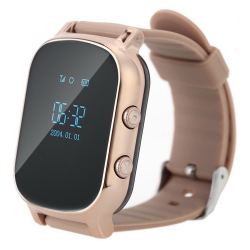Детские GPS часы-телефон GOGPS ME К20 Золотой (K20GD)