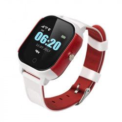 Детский телефон-часы с GPS трекером GOGPS К23 Белый с красным (K23WHRD)