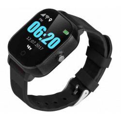 Дитячий телефон-годинник з GPS трекером GOGPS К23 чорний (K23BK)