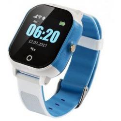 Детский телефон-часы с GPS трекером GOGPS К23 Синий с белым (K23BLWH)
