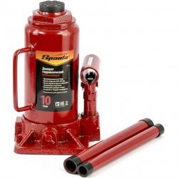 Домкрат Sparta гидравлический бутылочный, 10 т, h подъема 200-385 мм, (MIRI50325)