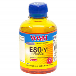 Чернила WWM E80 Yellow для Epson 200г (E80/Y) водорастворимые
