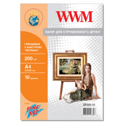 "Фотопапір WWM глянцевий ""Перлина"" 200Г/м кв, А4, 10л (GP200.10)"