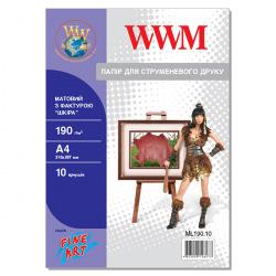 """Фотопапір WWM матовий """"Шкіра"""" 190Г/м кв, А4, 10л (ML190.10)"""