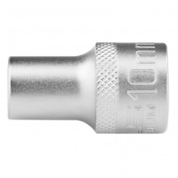Головка торцева, 10 мм, 12-гранна, CrV, під квадрат 1/2, хромована Stels (MIRI13651)