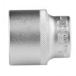Головка торцева, 30 мм, 12-гранна, CrV, під квадрат 1/2, хромована Stels (MIRI13673)