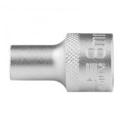 Головка торцева, 8 мм, 12-гранна, CrV, під квадрат 1/2, хромована Stels (MIRI13647)