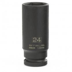 Головка утакрная удлиненная шестигранная, 24 мм, 1/2, CrMo Stels (MIRI13949)
