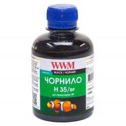 Чернила для СНПЧ WWM H35 Black для HP 200г (H35/BP) пигментные