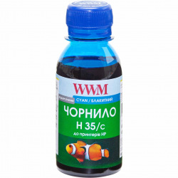 Чернила для СНПЧ WWM H35 Cyan для HP 100г (H35/C-2) водорастворимые