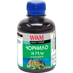 Чернила WWM H71 Black для HP 200г (H71/BP) пигментные