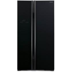 Холодильник Hitachi R-S700 Side-by-Side/ Ш920xВ1775xГ765/ 605л /A++ /Черный (стекло) (R-S700PUC2GBK)