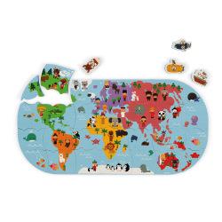 Іграшка для купання Janod Пазл Карта світу  (J04719)