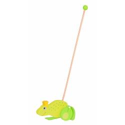 Игрушка-каталка goki Лягушонок (54938G)