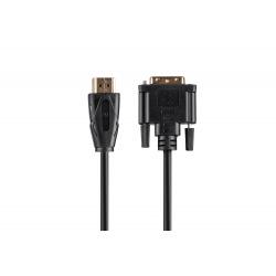 Кабель 2E HDMI - DVI 24+1(AM/AM), Molding Type, black, 1.8m (2E-W1701)