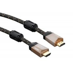Кабель НАМА HDMI, Premium, (AM/AM), ферити, довжина 0.75 м (122209)