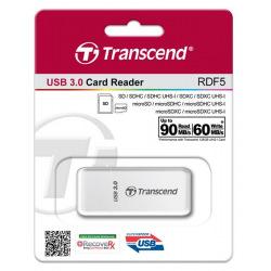 Кардридер Transcend USB 3.0 microSD/SD White (TS-RDF5W)