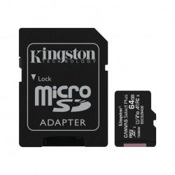 Карта пам'яті Kingston 64GB microSDXC C10 UHS-I R100MB/s Canvas Select Plus + SD (SDCS2/64GB)