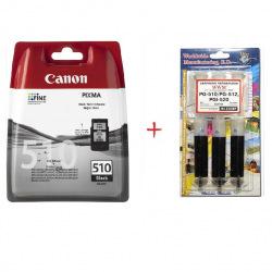Картридж Canon PG-510 + Заправочный набор С10 BP (Set510-inkC)