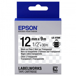 Картридж Epson LK-4TBN Clear Black/Clear 12mm x 9m (C53S654012)