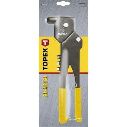 Клепальный инструмент Topex для заклепок алюминиевых 2.4, 3.2, 4.0, 4.8 мм, несколько положений (43E713)