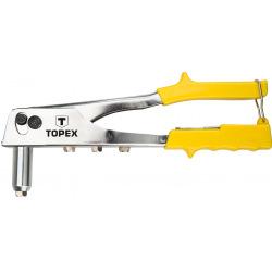 Клепальний iнструмент Topex для заклепок алюмiнiєвих 2.4, 3.2, 4.0, 4.8 мм (43E707)