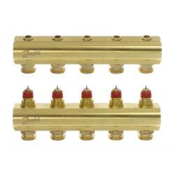 Коллектор FHF 5+5 без ротаметров, латунный (088U0505)