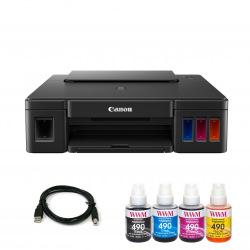 Комплект Принтер Canon Pixma G1411 (без чернил) + USB кабель + Чернила WWM по 140г