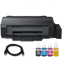 Комплект Принтер Epson L1300 (без чернил) + USB кабель + Чернила WWM по 140г