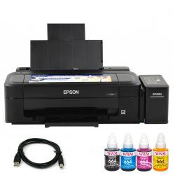 Комплект Принтер Epson L132 (без чернил) + USB кабель + Чернила WWM по 140г