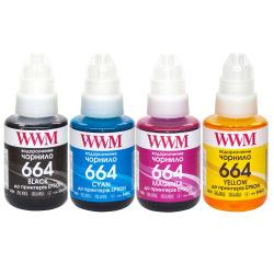 Комплект чернил WWM 664 B/C/M/Y для Epson 4х140г (E664SET4) водорастворимые