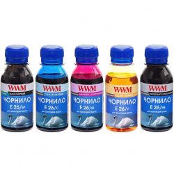 Комплект чернил WWM E26 BP/PB/C/M/Y для Epson 5х100г (E26SET5-2) пигментные/водорастворимые