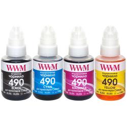 Комплект чернил WWM GI-490 B/C/M/Y 4х140г (C490SET4)