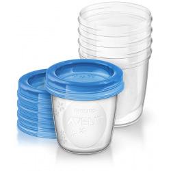 Контейнеры для хранения грудного молока Avent 5x180мл SCF619/05 (SCF619/05)