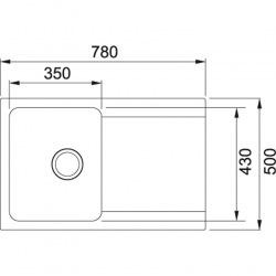 Кухонная мойка Franke Orion Tectonite OID 611-78 Тектонайт/780x500х180/Нідерланди/Сахара (114.0498.032)