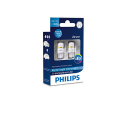 Лампа светодиодная Philips W5W X-tremeUltinon  LED, 4000K, 2шт/блистер (127994000KX2)