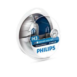 Лампа галогенная Philips H3 Diamond Vision 5000K, 2шт/блистер (12336DVS2)