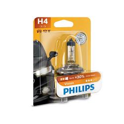 Лампа галогенная Philips H4 Vision, 3200K, 1шт/блистер (12342PRB1)
