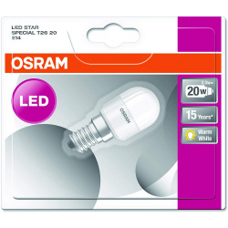 Лампа светодиодная Osram LED STAR T26 для холодильников 2,3W 200Lm 6500К E14 (4052899961296)