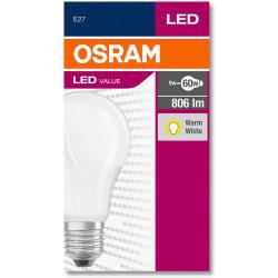 Лампа светодиодная Osram LED VALUE A60 8,5W 806Lm 2700К E27 (4052899326842)