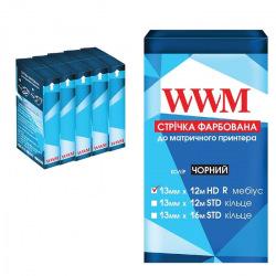 Стрічка фарбуюча WWM 13мм х 12м HD правий Refill Black (R13.12HR5) 5шт