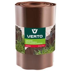 Лента Verto газонная 20 cm x 9 m, коричневая (15G515)