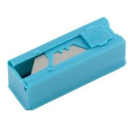 Леза трапецієподібні 19 мм, пластиковий пенал, 12 шт,  GROSS (MIRI79376)