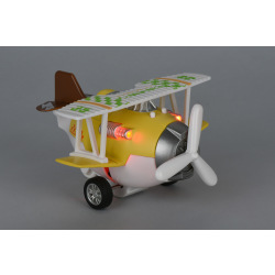 Самолет металлический инерционный Same Toy Aircraft желтый со светом и музыкой  (SY8015Ut-1)